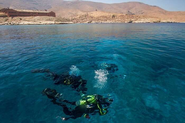A group of WWF members going for a sea-diving expedition in the waters around Gyaros island in Greece