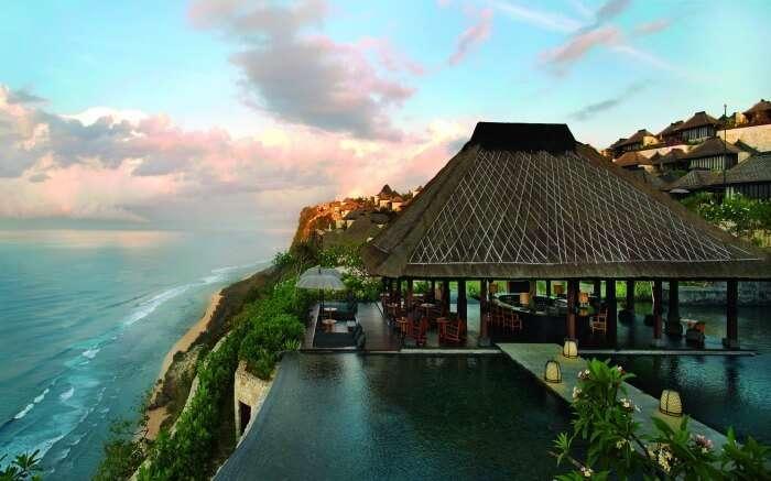 A beach resort overlooking the Indian Ocean in Canggu in Bali