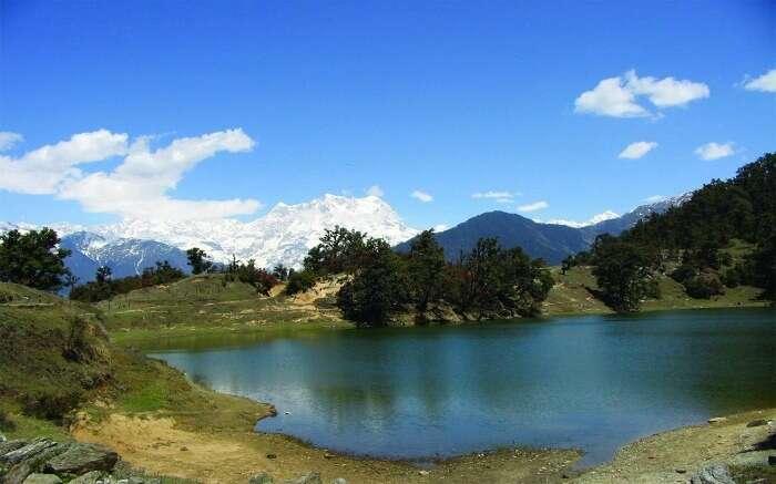 A view of Deoria Tal Lake near Chopta in Uttarakhand s