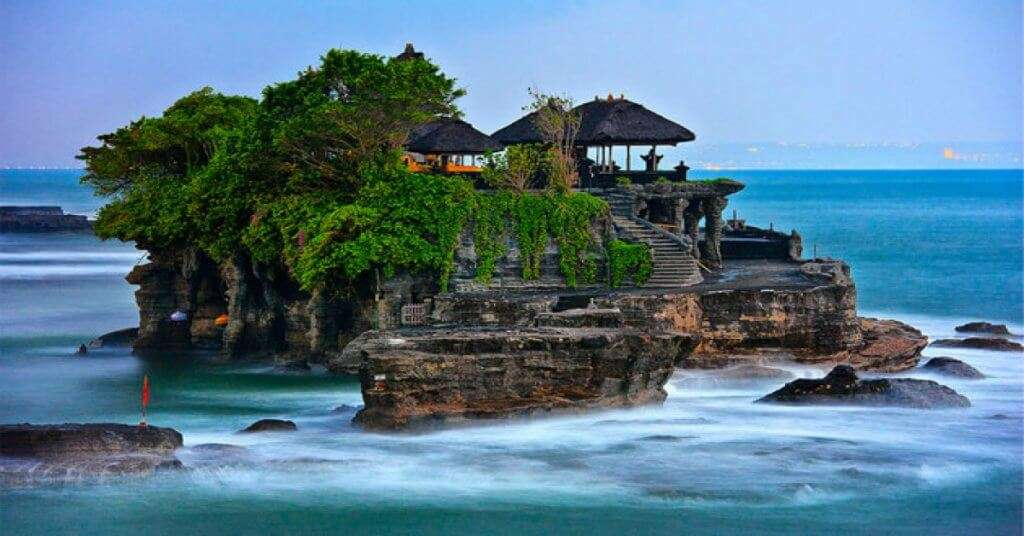 A view of Tanah Lot Temple Near Canggu in Bali