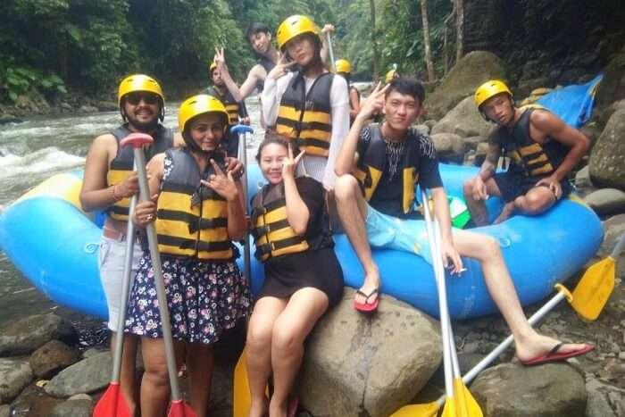 nirav & wife bali river rafting