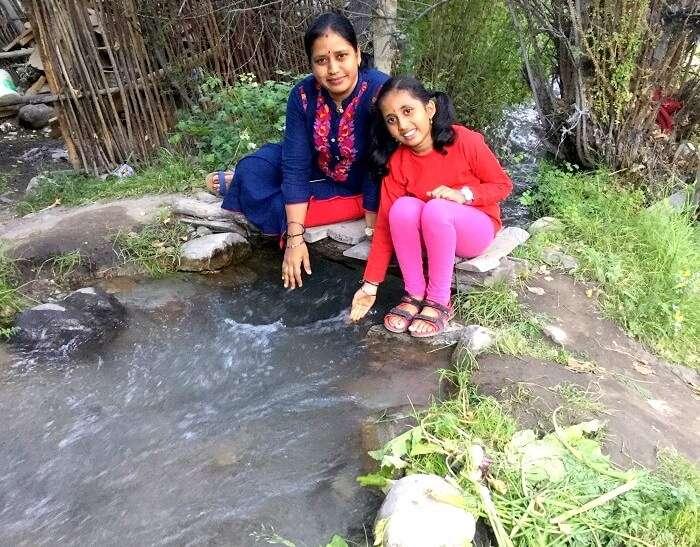 river stream in hunder