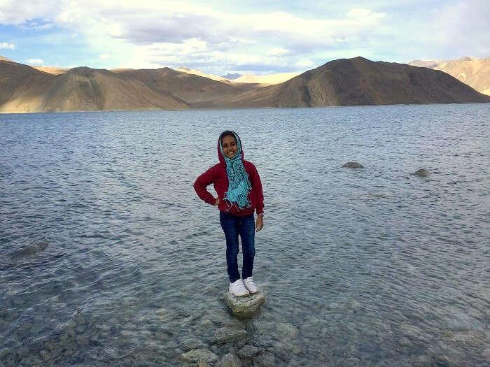 sightseeing at pangong lake