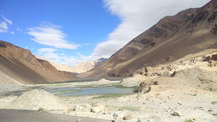 zanskar river near leh