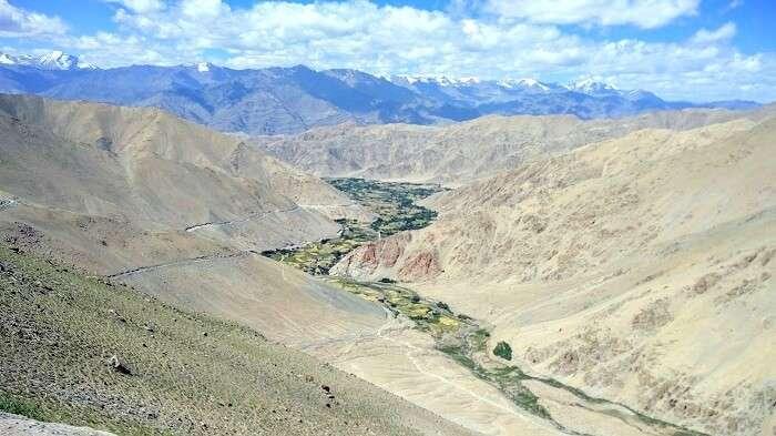 birds eye view in nubra valley