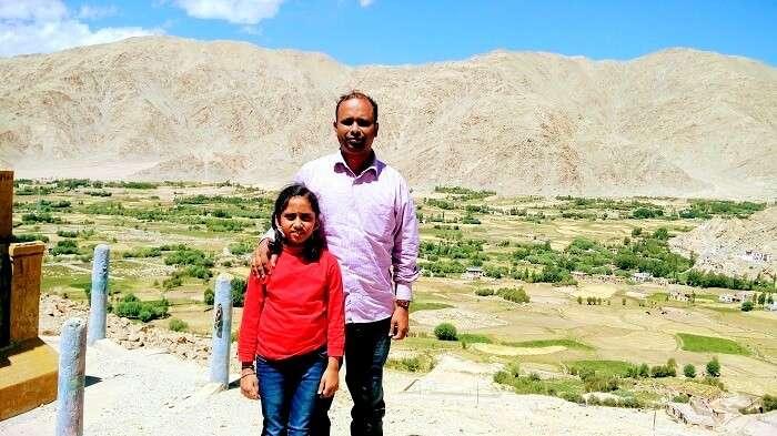 hemkumar and his daughter