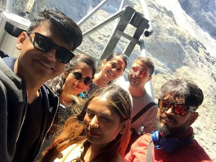 cable car ride to mt. titlis