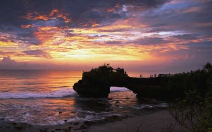 Landscape view of Tanah Lot in near Canggu in Bali