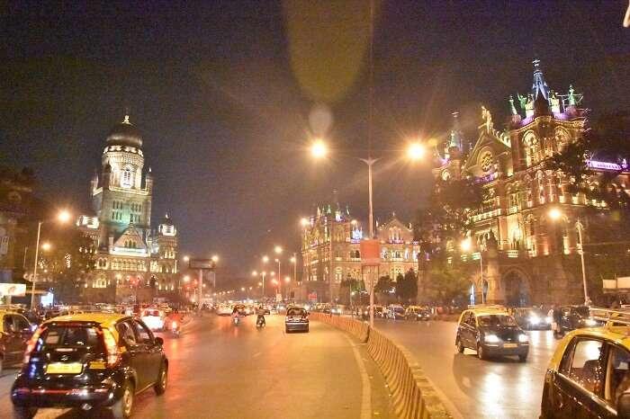 A road in Mumbai