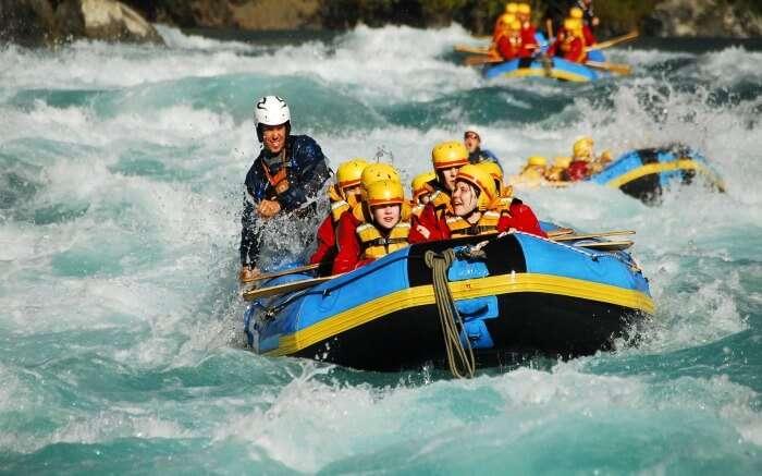 Rafters enjoying river rafting in Kali Gandaki in Nepal ss04082017