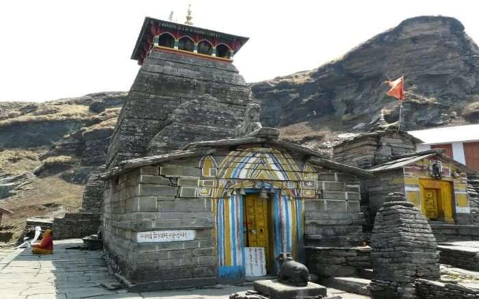 The majestic view Tungnath Temple in Chopta