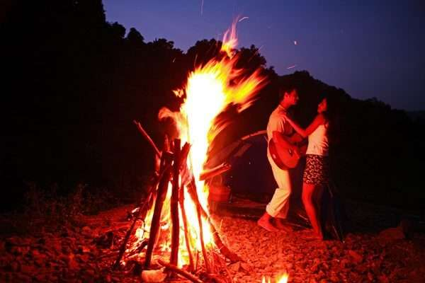 go new year camping in pune with your bae
