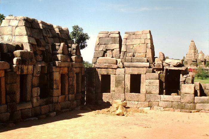 ruined temple in Khajuraho