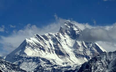 snowclad mountain peak of Nanda Devi