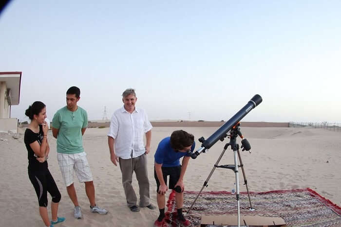 spot prominent heavenly bodies at the Al Sadeem Observatory