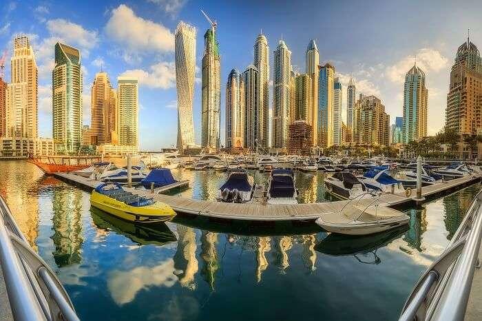 hang out at the Dubai Marina Bay