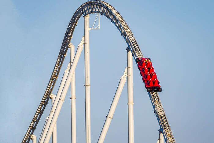 enjoy thrilling rides at Ferrari World