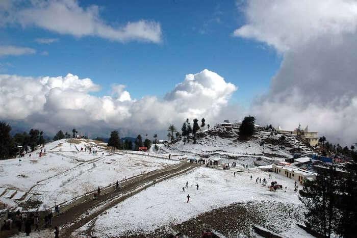 enjoy snow in december in Kasauli