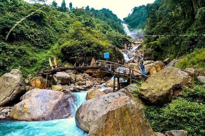 waterfalls near lachung