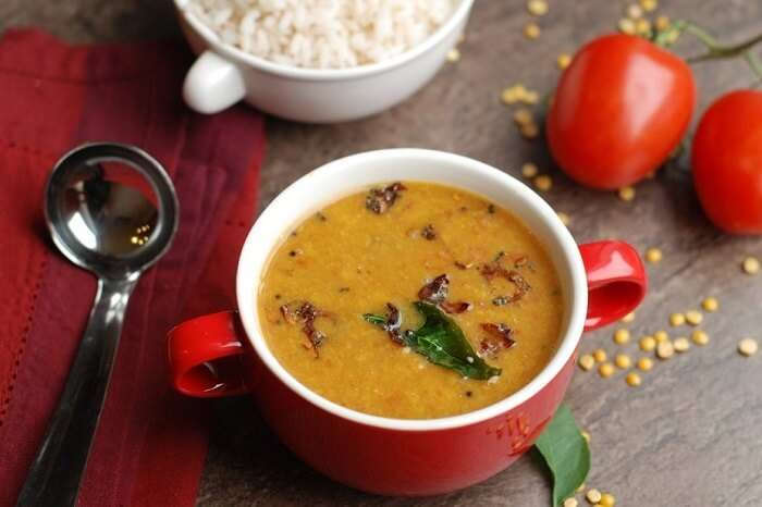 have Parippu Curry - dal in Kerala