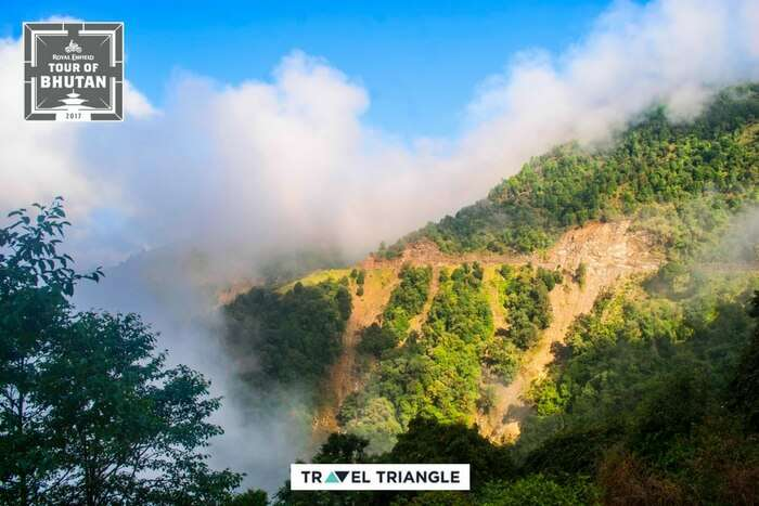 the landscapes of bhutan on RE road trips