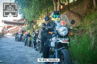 the riders of royal enfield tour of bhutan
