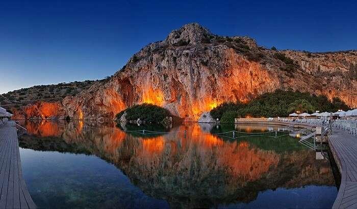 The Thermal Lake Vouliagmeni Greece