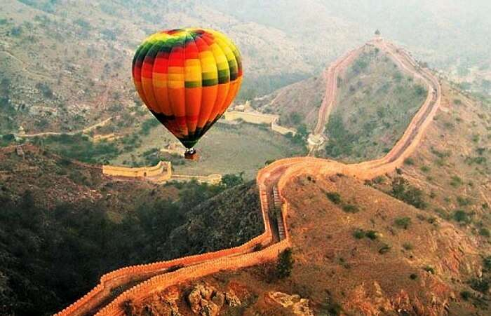 hot air ballooning in Jaipur