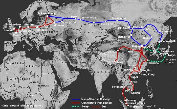 Trans Siberian Railway Routes