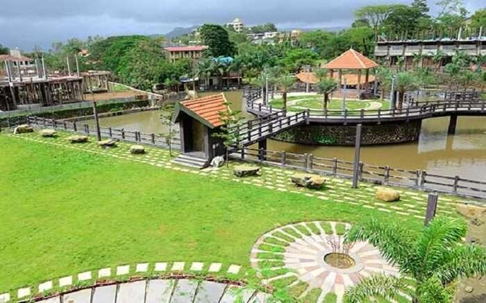 A beautiful view of water reserve in Mystical Resort in Khanda