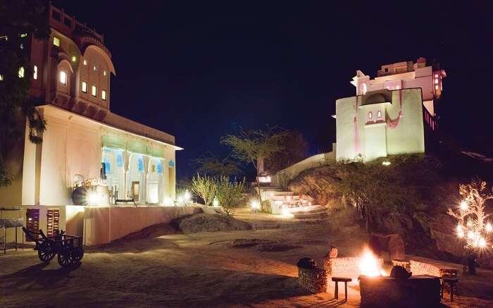 An evening in Lakshman Sagar Resort
