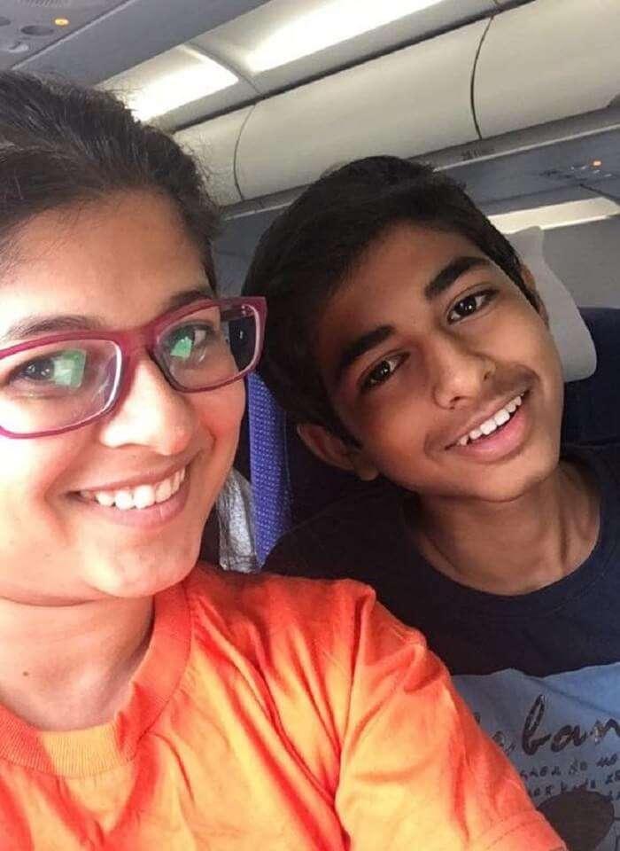 saurabhi singapore family trip: in the flight