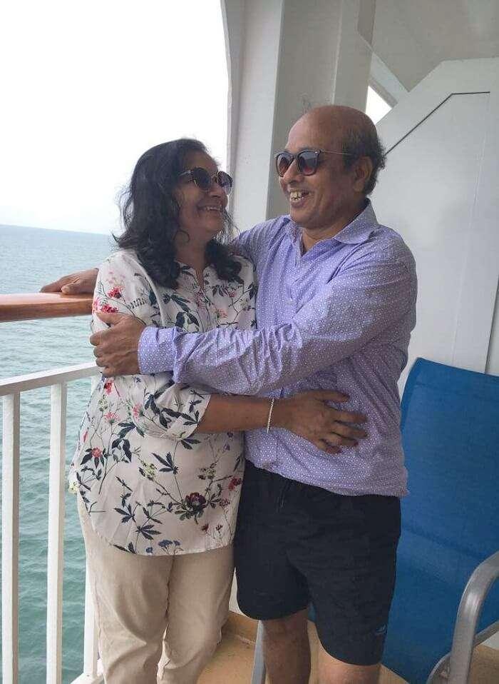 saurabhi singapore family trip: saurabhi's parents in the cruise