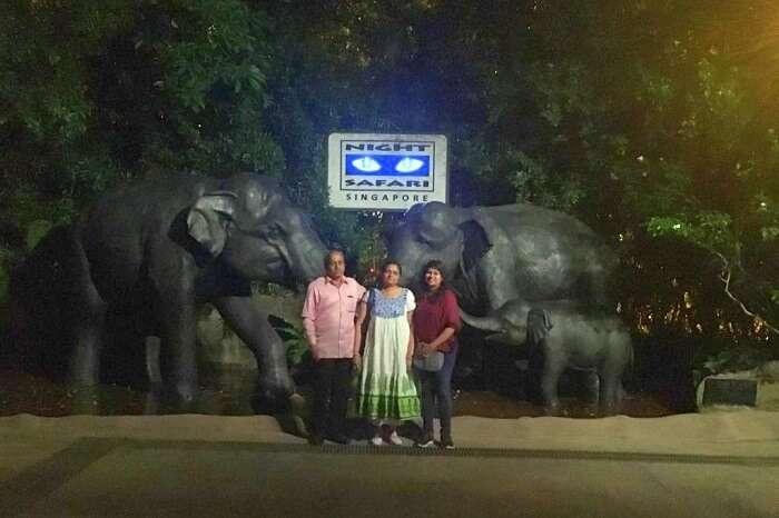 saurabhi singapore family trip: enjoying at the zoo