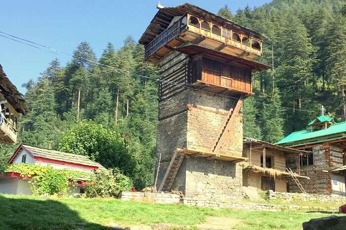 scenic village in himachal