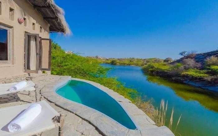 Lakshman Sagar and private pool