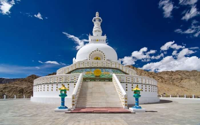 Shanti Stupa in Ladakh