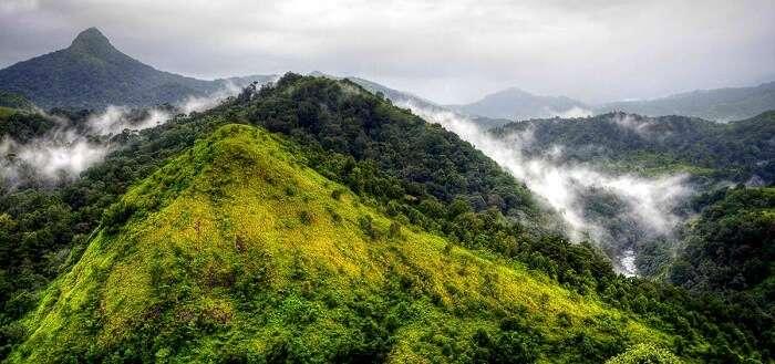 Silent Valley National Park misty hills