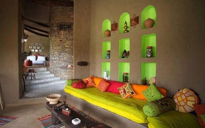 Sitting area in Lakshman Sagar