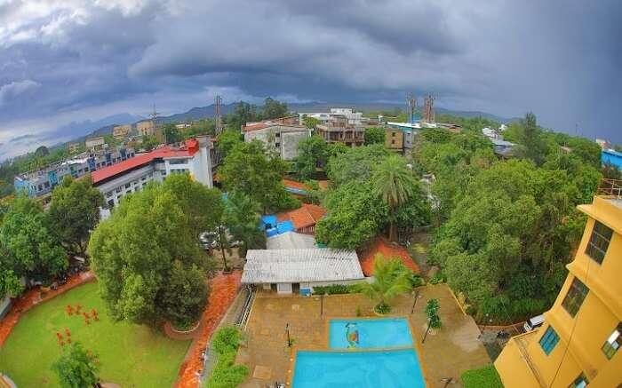 The top view of Krushnai Resort in Khandala