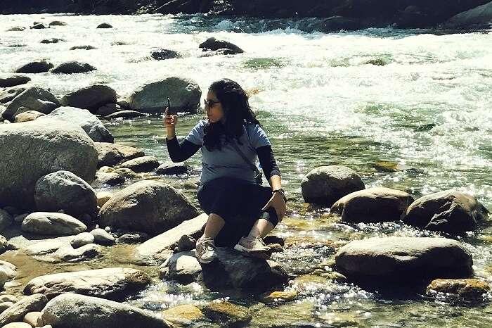 river stream near choi waterfall