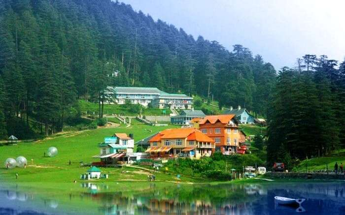 The valley and lake of Khajjiar in Dalhousie