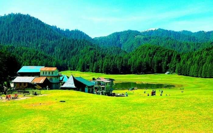 Khajjiar Himachal Pradesh, Vast expanse of green meadows and dense forests
