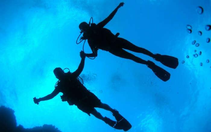 Couple Scuba Diving Andaman
