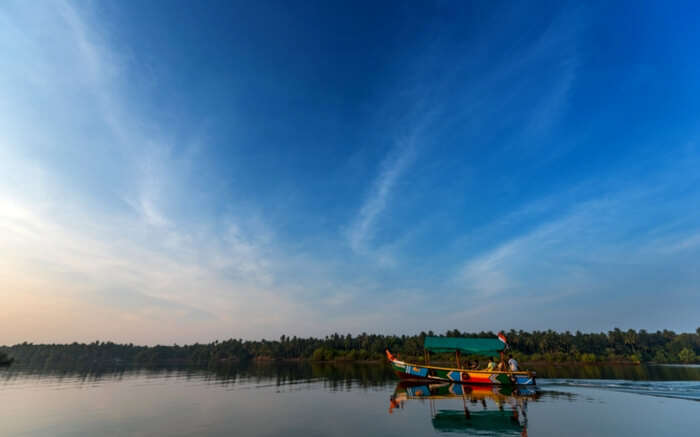 A boat in backwaters