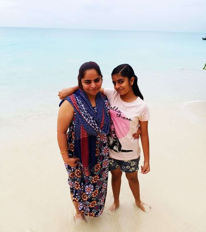 Mother and daughter in Andaman