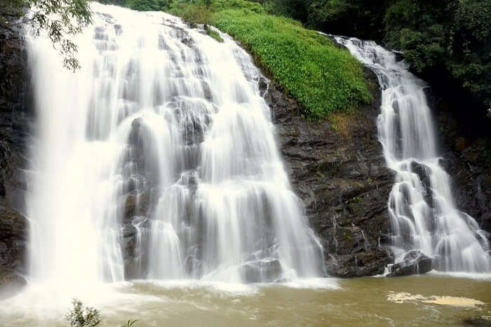 Abbey Falls With Surroundings In Coorg