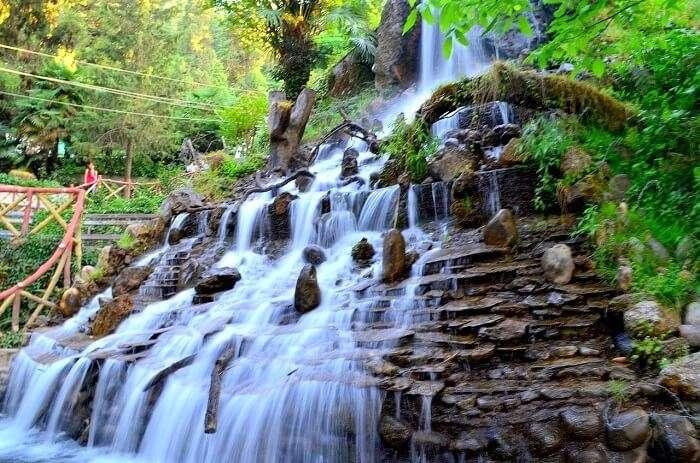 Waterfall in Company Garden Mussoorie