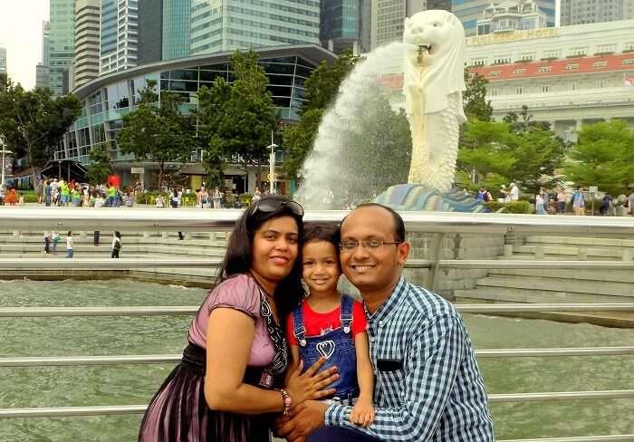 Merlin statue Singapore