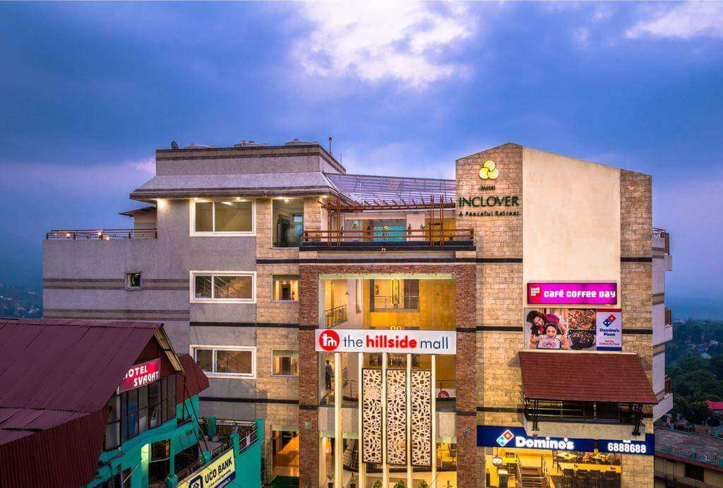 building of hotel inclover in Dharmshala